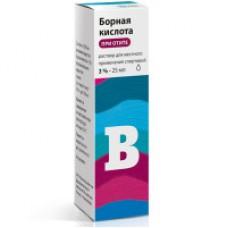 Борная кисл. р-р спирт.3% - 25 мл