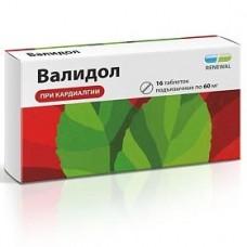Валидол таб. 60 мг N16