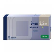 Энап таблетки 2.5 мг, 20 шт